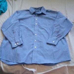 Stafford blue striped dress shirt size 34/35